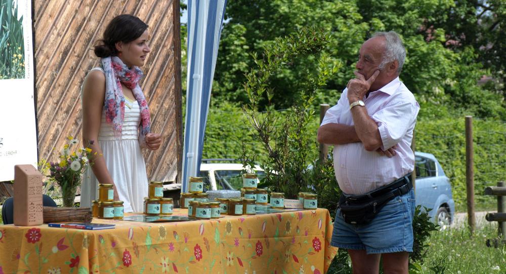 Honigverkauf in der Wilhelma